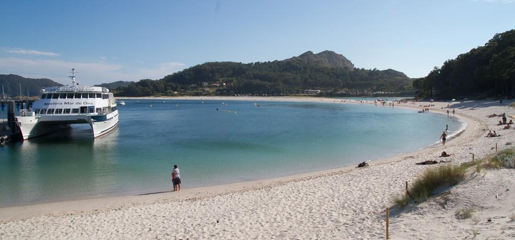 Playa de Rodas, en Illas Cíes