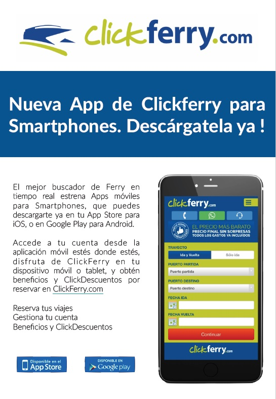 App movil clickferry