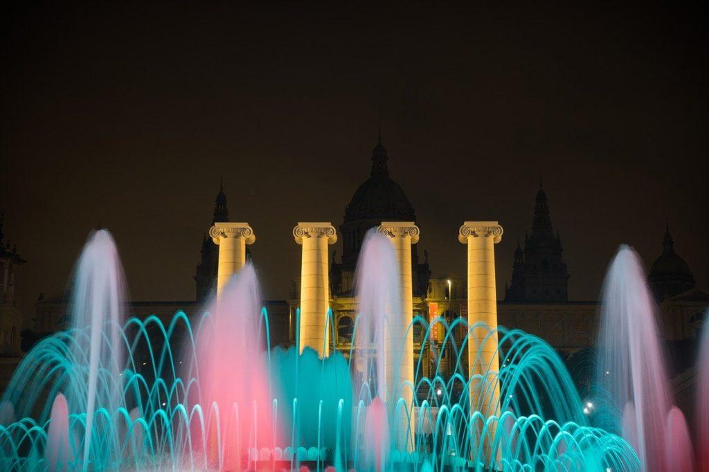 Fuente mágica de Montjuïc, Barcelona.