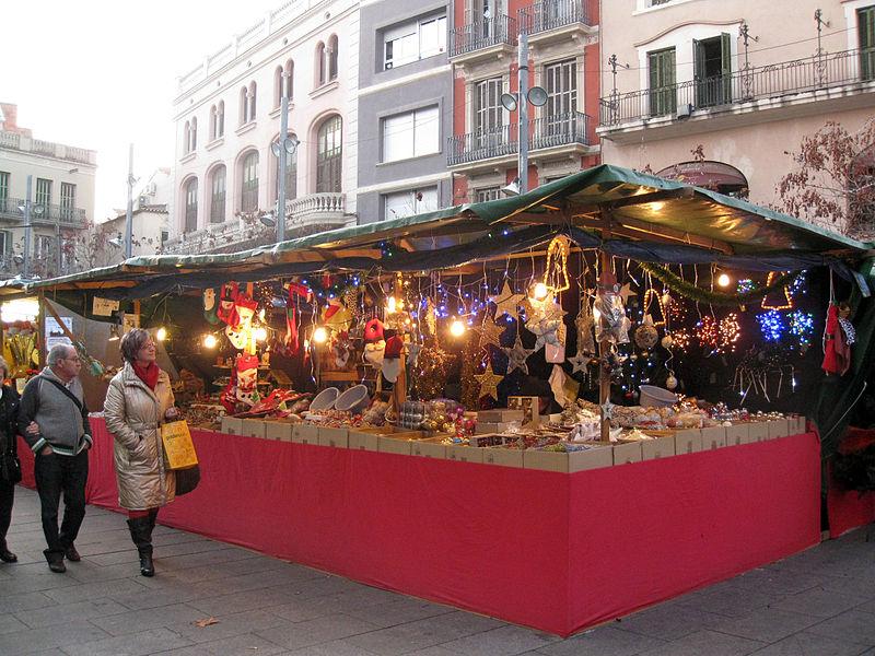 Mercadillo navideño en Barcelona