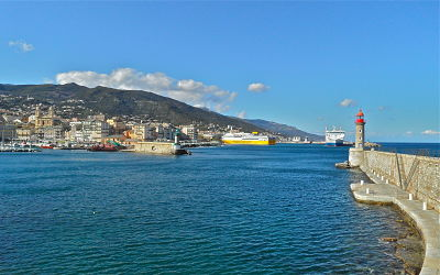 Image of the ferry terminal in Bastia