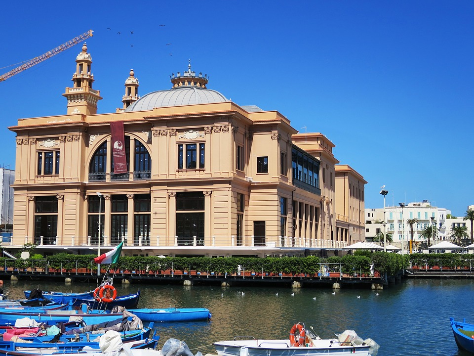 Image of the ferry terminal in Bari