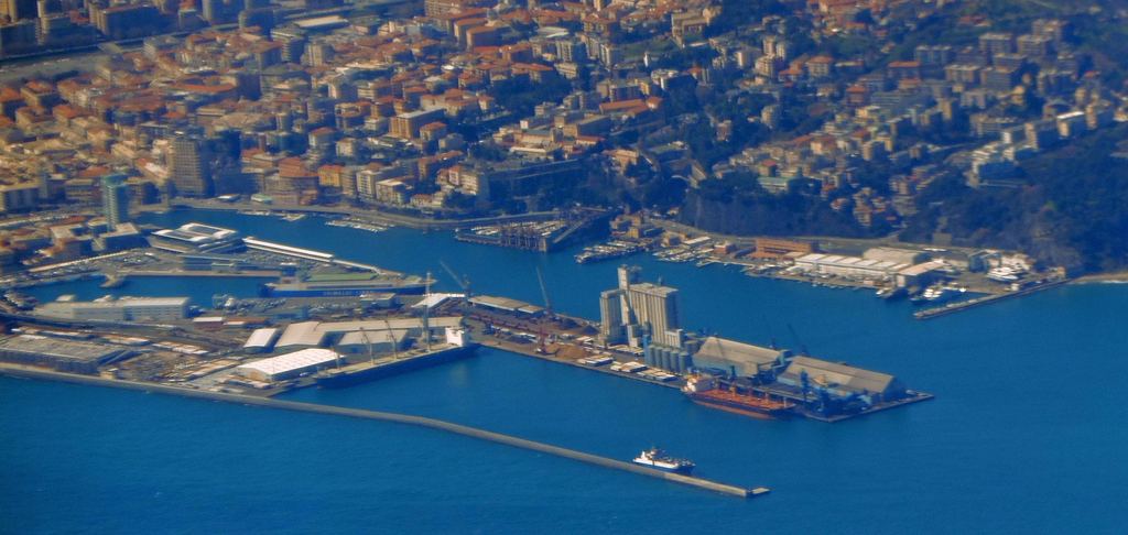 Image of the ferry terminal in Savona