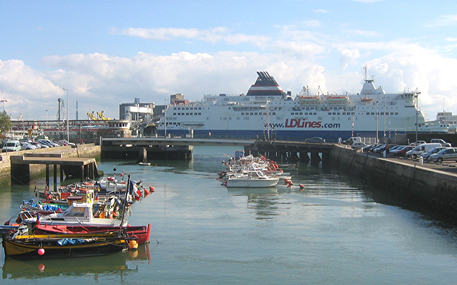 Image of the ferry terminal in Le Havre
