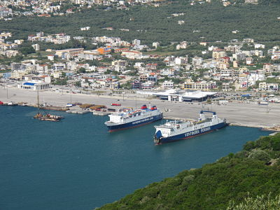 Image of the ferry terminal in Igoumenitsa
