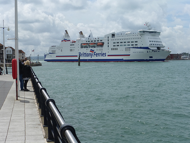 Image of the ferry terminal in Portsmouth