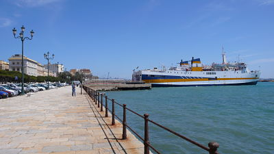Image of the ferry terminal in Trapani