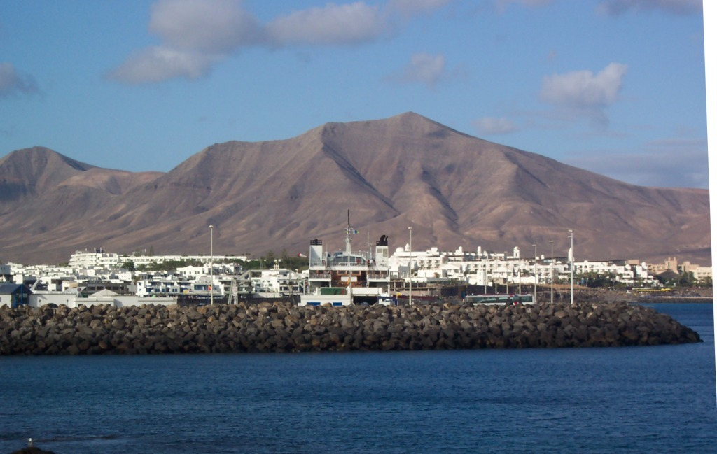 Image of the ferry terminal in Lanzarote (Playa Blanca)