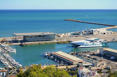 Image of the ferry terminal in Denia