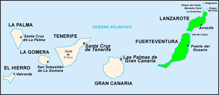mappa canaria