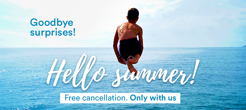 Image of FREE CANCELLATION IN ALL YOUR RESERVATIONS